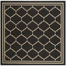 Outdoor Rug Square Safavieh Courtyard Transitional Black Indoor Outdoor Rug