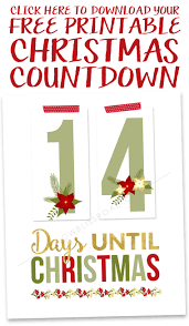 free printable christmas countdown free printable free and holidays