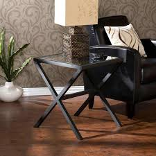 metal end tables iron wood