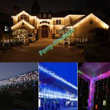 snowing icicle outdoor lights linkable 5m 216led christmas xmas led snowing icicle fairy lights