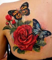 Flower Butterfly Tattoos 01 Flower And Butterfly Tattoos Insigniatattoo Com