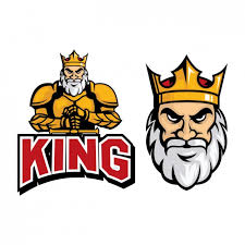 design free logo download coloured king logo design vector free download