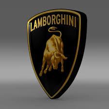 car lamborghini logo lamborghini logo 3d model cgtrader