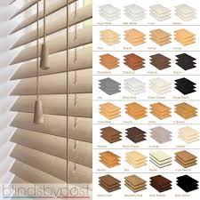Venetian Blinds Wood Effect Wooden Slat Blinds Ebay