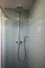 smoke glass subway tile gray subway tiles waterfall shower and