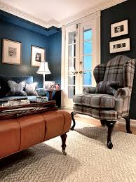 photos hgtv blue living room with plaid chair loversiq