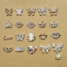 aliexpress buy new arrival 10pcs silver gold aliexpress buy glitter rhinestone 3d nail butterfly lip