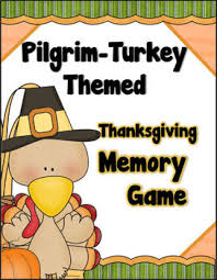 pilgrim turkey themed thanksgiving memory concentration