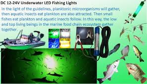 led fish attracting lights dc 12v 24v 60w attracting fishes tackle underwater led fishing lights