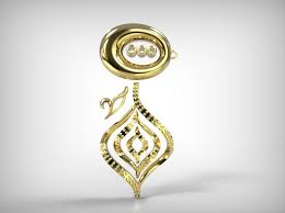 golden jewelry parts ornamental design 3d model 3d