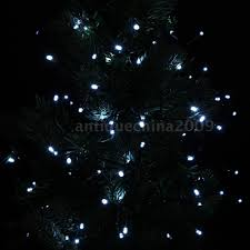 Fairy Light Tree by Solar Power 100 White Led String Fairy Lights Decoration Christmas