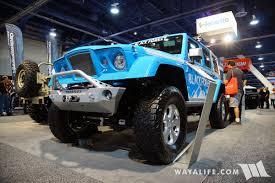 jeep concept truck gladiator 2017 sema black forest blue jeep jk wrangler unlimited gladiator