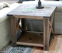 Free End Table Building Plans by Rustic Wood End Tables U2013 Thelt Co