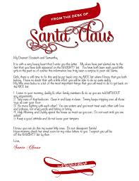 official letters from santa letters from santa templates cyberuse
