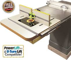 table saw router table cast iron router table extension and fence