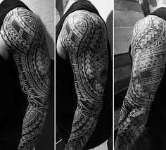 50 polynesian arm designs for manly tribal ideas