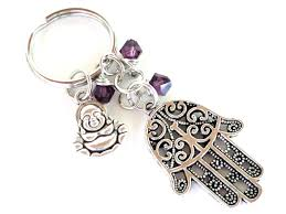 unique keychain hamsa keychain buddha bag charm keyring protection