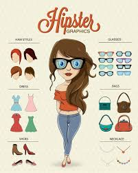 hipster girl hipster girl character vector free download