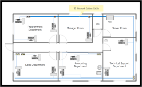 large home network design conceptdraw com for network drawing solution with server room