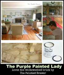 How To Whitewash Interior Brick Washed Bricks The Purple Painted Lady