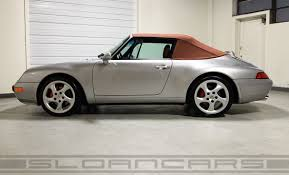silver porsche convertible 1997 porsche 993 c4 cabriolet 17 907 miles sloan cars
