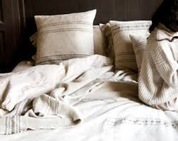Moroccan Coverlet Pure Linen Blanket Etsy