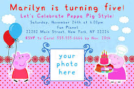 printable peppa pig birthday invitations free free invitations ideas