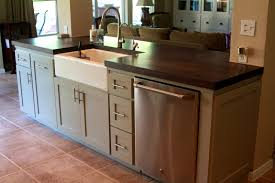kitchen island with dishwasher and sink pioneering kitchen island with sink and dishwasher plans