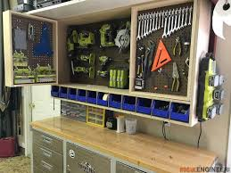 Woodworking Projects Garage Storage by Best 25 Tool Storage Ideas On Pinterest Garage Tool Storage