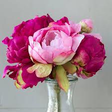 silk peonies silk peony bouquet terrain