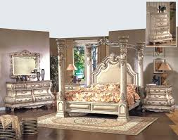 Traditional Style Bedroom - mcferran rb9087 monaco leather queen size bedroom set 5 pc