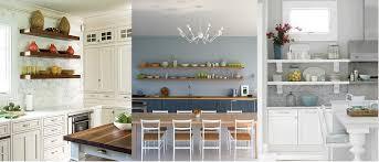 tablette murale cuisine etagere murale cuisine idées d utilisation d étagères ouvertes