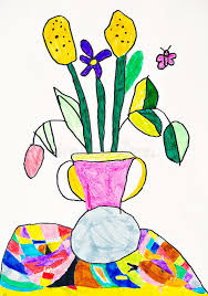 Vase Of Flowers Drawing Vase With The Flowers Drawing Royalty Free Stock Photo Image