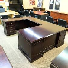 U Shaped Executive Desk U Shaped Executive Desk L Mahogany And More Desks Absolute Office