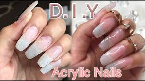 diy how i do my natural looking acrylic nails lilybetzabee