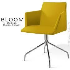 pied de fauteuil de bureau fauteuil confort bloom pieds 4 branches acier chromé assise et