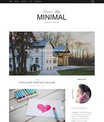 minimal responsive blogger template free download