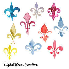 fleur de lis mardi gras watercolor fleur de lis mardi gras by digitalpresscreations on zibbet