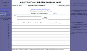 Construction Sheets Template Electrical Contractor Bid Sheet Template