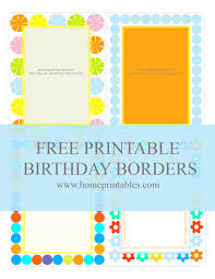 fun designs free birthday borders for invitations home printables