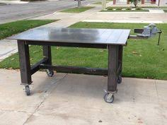 Welding Table Plans by One Awesome Welding Table Metal Work Blacksmith Welding