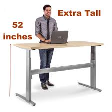 Electric Height Adjustable Desk by Tall Desk Electric Height Adjustable Table Desks For Extra Height
