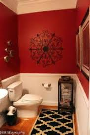 Red And Black Bathroom Decorating Ideas Small Bathroom Decor Red Black And Brown Tsc