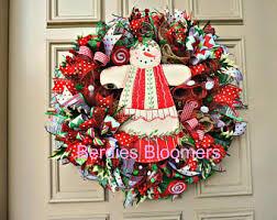 deco mesh wreaths etsy