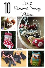 free ornament sewing patterns
