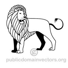 vector drawing of a lion download at vectorportal