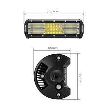 Led Light Bar Driving Lights by 2pcs 9inch 600w Cree Led Light Bar Spot Flood Combo 4x4wd Atv