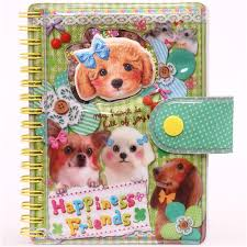 dog photo album dog puppy ribbon glitter ring binder sticker album sticker books