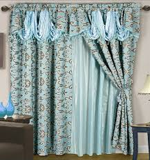 amazon com 4 pc luxurious satin jacquard damask curtain set
