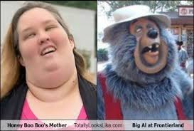 Honey Boo Boo Meme - honey boo boo s mother totally looks like big al at frontierland